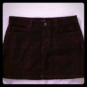 Joe's Jeans W 26 corduroy mini skirt.